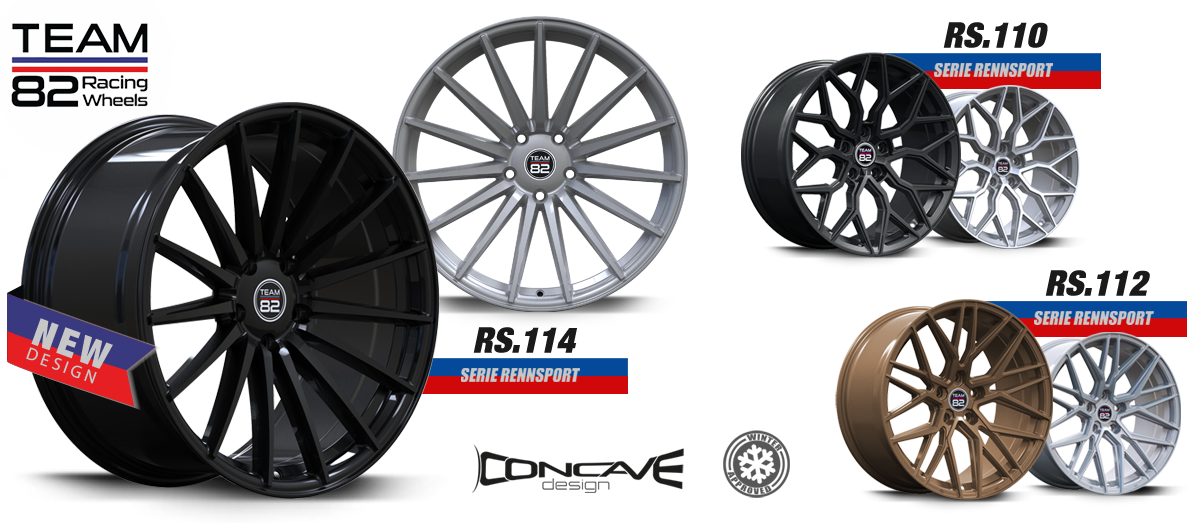TEAM82 Racing Wheels   SERIE RENNSPORT   Concave Design
