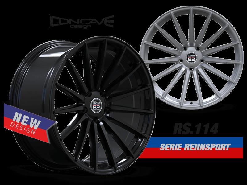 TEAM82 Racing Wheels   RS. 114 SERIE RENNSPORT   Concave Design