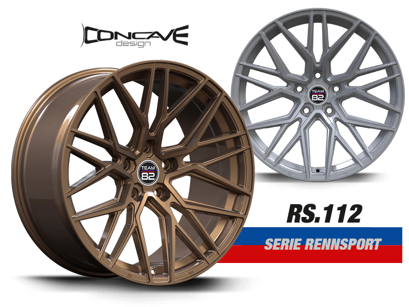 TEAM82 Racing Wheels   RS. 112 SERIE RENNSPORT   Concave Design